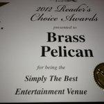 voted best entertainment venue 2012