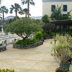 spacious sun terrace