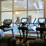 Exercise room and indoor pool