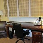 The room's huge desk