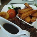 Sirloin and hand cut chips