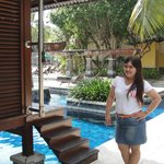 the pool with private bungalow