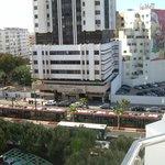 vue du balcon de l'hotel
