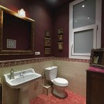Burgandy Bathroom