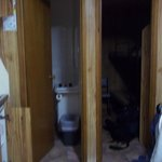 Bathroom and spare room off main room