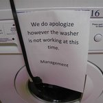 Washing machine out of order for three days