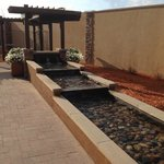 Outside water feature