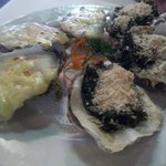 oyster - mornay& spinach