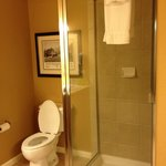Shower in newer 1 bedroom units