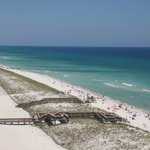 white sand and teal blue water