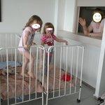 Lits pour bébés de l'hotel
