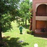 Chambre bungalow et jardin
