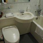 Bathroom- bathtub kinda small