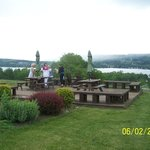 setting up for a little wine and cheese overlooking Keuka Lake