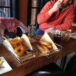Giant and delicious apps: Onion rings, fried pickles and truffle fries