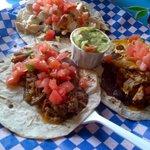 Pork,Chicken,Beef tacos