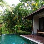 Inside the pool villa
