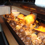 Meats on our carvery deck.