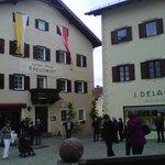 ingresso con bandiere festa corpus domini
