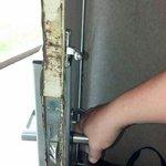 door that had been attempted for breakin