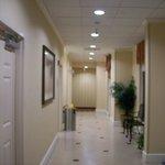 Hallway on ground floor to Pool area.