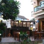 terrasse bar de l'hôtel