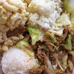 Kalua pork and cabbage.