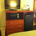 Most rooms have flat screen TVs