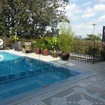 Rooftop heated pool at Clarence House