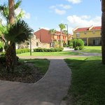 Path to pool, other townhouses. Very nicely maintained.