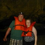 My DH and me in the cave
