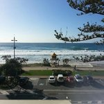 View from 2nd Floor. Room booking was 'Hotel Beachfront'