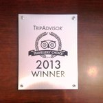 Travellers Choice Award 2013