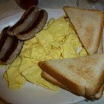 Royal Treat eggs, sausage & toast