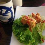 Mom's Hand Rolls, a mushroom and spicy tuna, deep fried.