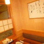 A typical corner booth at Bang Bang.