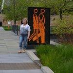 People walking in the Citygarden