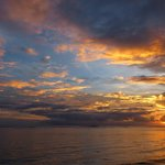 Sunset outside 'EXILE'