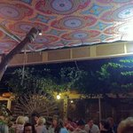 outdoor tent ceiling