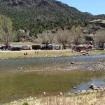 view from across the river by tent sites
