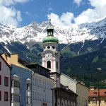 Dramatic setting of Innsbruck's Old Town