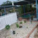 One of the warm outdoor pools