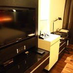 TV and writing desk