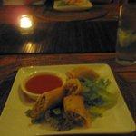 dinner (the best spring rolls!)