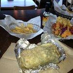 Carne Asada Burrito & Baja Fish Tacos