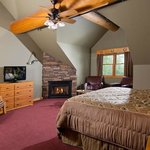 Cowboy Roundup, Gorgeous 2nd Floor Room with stone fireplace