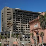 Burned government offices from the revolution 2 years ago