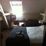 Top floor room with skylight