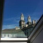 View of Grossmunster from Skylight in room