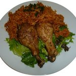 Kumasi Chicken With Jollof Rice